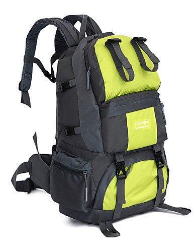 GXS New Outdoor Reise Bergsteigen Taschen 50L Wasserdicht Nylon Rucksack schwarz - schwarz