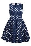 La-V Mädchenkleid Blau Gepunktet/Größe 122