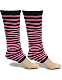 A-Express® Ladies Girls Neon Stripes Leg Warmers Fancy Dress Tutu