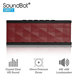 SoundBot SB571 Bluetooth Speakers (Red/Black)