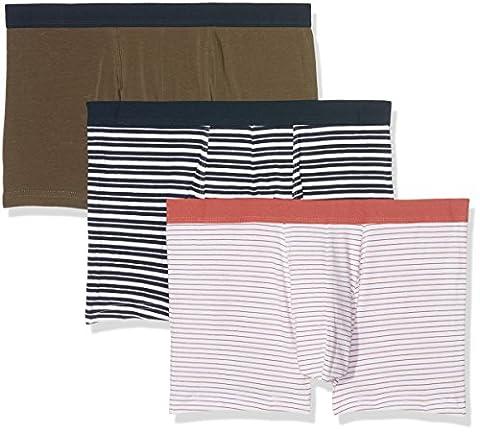 New Look Multistripe Trunks, Homme - Multicolore (Multicoloured ), Large