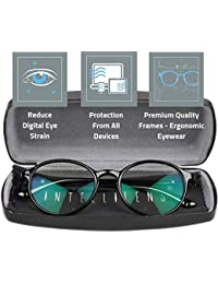 9687fa7bb0 Intellilens® Premium Blue Cut Zero Power Round Spectacles with Anti-glare  for Eye Protection