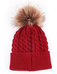 Amazon.es  gorro lana rojo y blanco - Sombreros y gorras ... c3908896b9a