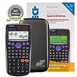 Casio FX-87 DE Plus + CalcCase Tiny Schutztasche + Buch: Im Fokus II: QuickView + Garantieverlängerung auf 60 Monate