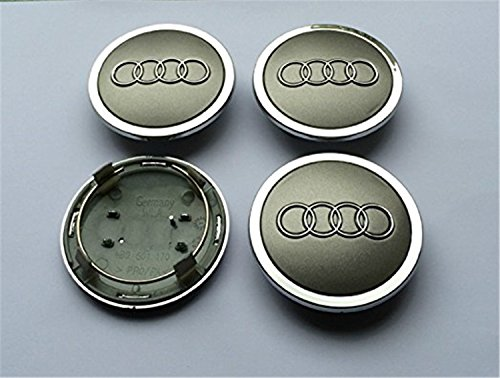 X4 Gris Audi Lot de 4 69 mm alliage nabendeckel nabenkappen radkappen milieu Capuchons TT A1 A2 A3 A4 A5 A6 A8 Q5 Q7, S-Line (69mm)
