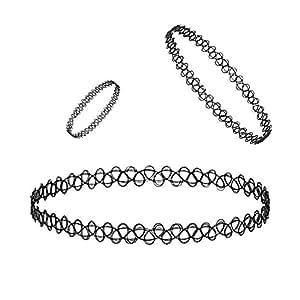 Designer Black Shraddha Kapoor Choker Neck Piece With Finger Ring And Bracelet By My Design
