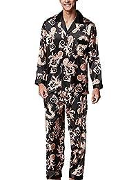 19ca4cef03 Amazon.it: pigiama seta nero uomo - Pigiami e abbigliamento da notte ...