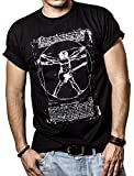 Camiseta con Guitarra Electrica DA VINCI ROCK Hombre Negro M