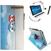 Tablet Funda para Teclast X98Air III Carcasa Funda Case + Touch Pen–9.7pulgadas 360_ multicolor Eulen 2 360_ Mehrfarbig