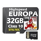 EUROPA Karte Topo Höhenlinien 32 GB microSD für Garmin und MAC und PC NEU