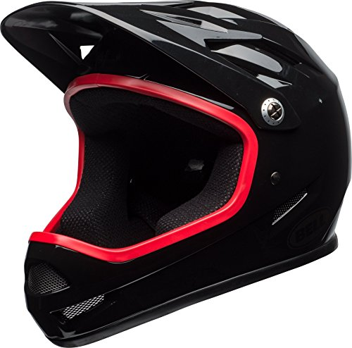 Bell Sanction DH Fahrrad Helm schwarz/rot 2018: Größe: M (55-57cm)