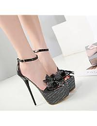 GTVERNH-scarpe da donna bene i tacchi i tacchi per scarpe da donna di 10cm bocca di pesce moda donna sandali. albicocca trentotto