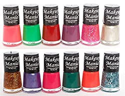 Makeup Mania Exclusive Nail Polish Set of 12 Pcs (Multicolor Set  78)
