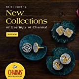 Charms Combo of 6 Stylish 18K Gold Plated Crystal Stud Earrings For Women & Girls