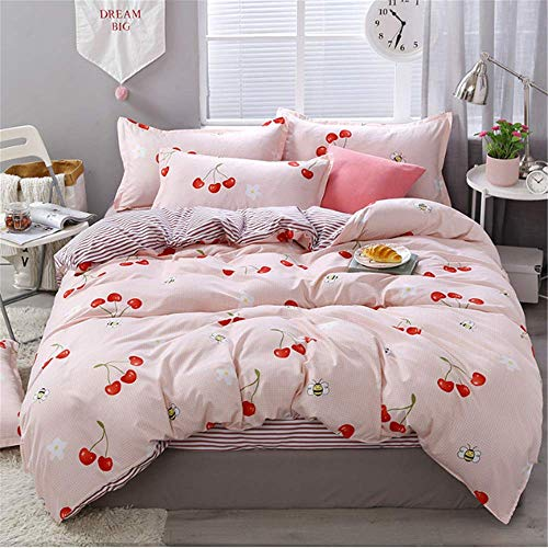 SHJIA Floral Bettwäsche Bettwäsche aus ägyptischer Baumwolle Bettwäsche-Sets Bettbezug Blumendruck Königin König Tagesdecken K 150x200cm