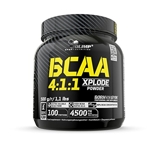 Olimp BCAA 4:1:1 Xplode Powder | 4500 mg in einer Portion | Verzweigtkettige Aminosäuren | Fruit Punch Geschmack | 500 g -
