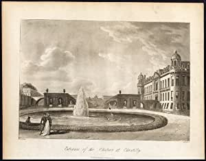 Antique Print-CHATEAU ENTRANCE-CHANTILLY-FRANCE-Thornton-Bryant-1806