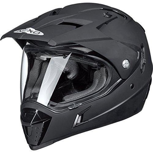 Nexo Motorradhelm, Crosshelm, Motocrosshelm MX-Line Endurohelm, Offroadhelm für Damen und Herren, 1.550 g, effektive, mehrfache Be- und Entlüftungskanäle, Mattschwarz, XS - XL