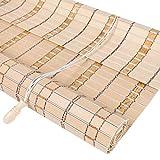 JIANFEI-Tenda di bambù Filtraggio della Luce Tenda A Rullo Controllo degli Insetti Protezione Solare, 3 Colori, 23 Taglie Personalizzabile (Colore : 1#, Dimensioni : 120x180cm)