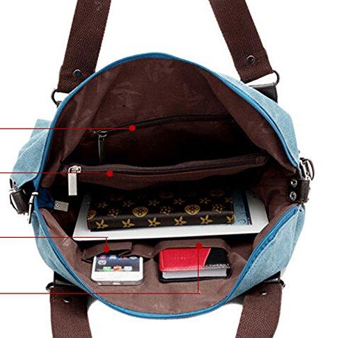 Fansela , Damen Tote-Tasche Rot dunkelrot Dunkelviolett