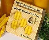 2 Pakete BAUMKERZEN aus 100% Imker BIENENWACHS - 40 Christbaum Kerzen aus der Schwarzwälder Kerzenmanufaktur. Höhe 10 cm