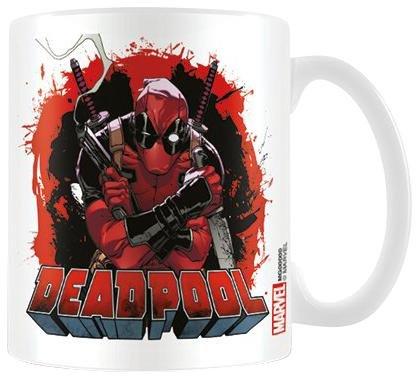 Deadpool Smoking Gun-Tazza in ceramica, multicolore