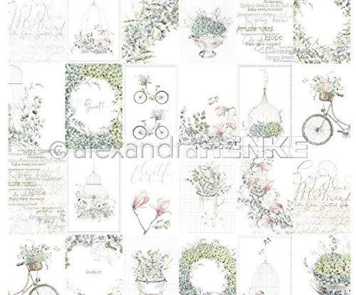 One-sided Scrapbook-Papier (1ks) Karton Blau Blumenarrangements International, Renke Alexandra, 30 30 Karteikarten, Folien, Print, Scrapboo -