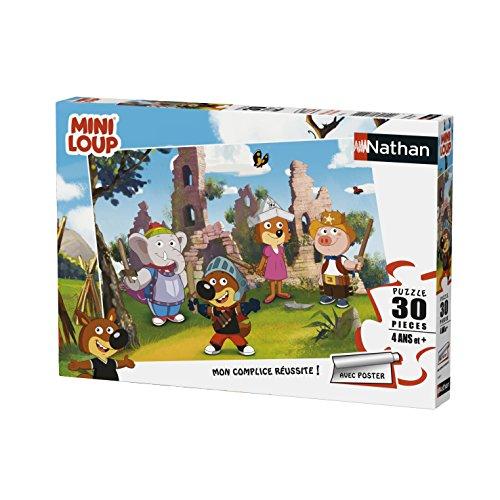 Nathan Puzzle Mini-Loup Joue au Chevalier 30 pièces, 86367