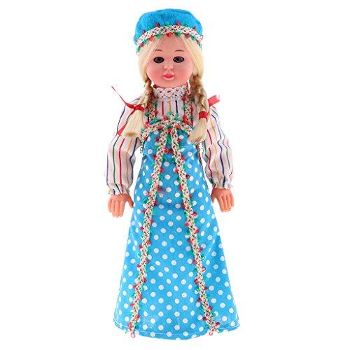 gt Internationale Ethnische Minipuppe Mädchen Puppen im Verschieden Kostüm, Perfekt für Dekoration Oder Sammlerstücke - Russisch Puppe (Russische Kostüme Bilder)
