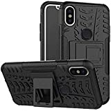 RGSG For Redmi Note 5 Pro Hybrid Armor Design Detachable And Stand-up Feature Dual Layer Protective Shell Hard Back Cover Case For Xiaomi Redmi Note 5 Pro-(Black) …