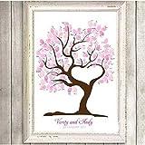 SwirlColor Hochzeits-Fingerabdruck-Baum-Signatur Gästebuch Anmelden Bild