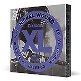 D'Addario Cordes en nickel pour guitare électrique D'Addario EXL115-3D, Medium/Blues-Jazz Rock, 11-49, 3 Jeux