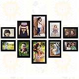 "[Sponsored]Ajanta Royal Set Of 10 Individual Photo Frames (4-4""x6"", 4-5""x7"", 2-6""x10"" Inch) Black : A-91A"