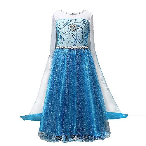 Halloween Prinzessin Eis Kostüm - Halloween Weihnachten Mädchen EIS Gefrorene Aisha Prinzessin Kleid Kinder Performance Kleid, Anime Cosplay Bühnenkostüm