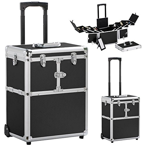 Make-up Tool Beauty Case Make-up Koffer Trolley 2 Räder Werkzeugtrolley Friseurkoffer