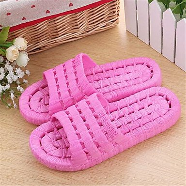 zhENfu Unisex pantofole & amp; flip-flops primavera cadono pantofole PVC outdoor casual tacco piatto altri verde rosa rosso altri Ruby