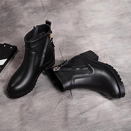 Ladies Winter dimensioni black grandi Scarpe Short Boots 36 36 w4zrqwSZp