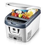 Jiongzhuo Kompressor Auto Kühlschrank Gefrierschrank Kühlung Mini Kleine Familie Auto nach Hause Doppeltem Verwendungszweck Gekühltes Schlafsaal Muttermilch Tragbare 12-24 V / 220 V (Farbe : Weiß)