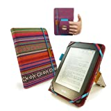 Tuff-Luv Embrace Plus Textiltasche Hülle für Amazon Kindle Touch / Paperwhite mit (Sleep-Funktion) / Sony Kobo - navajo - Tuff Luv