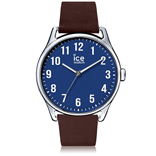 Ice-Watch - ICE time Brown Blue - Montre marron pour homme avec bracelet en cuir - 013048 (Large)