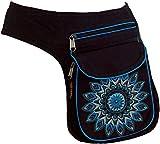 Guru-Shop Stoff Sidebag & Gürteltasche Mandala, Goa Gürteltasche, Bauchtasche - Blau, Herren/Damen, Baumwolle, Festival- Bauchtasche Hippie