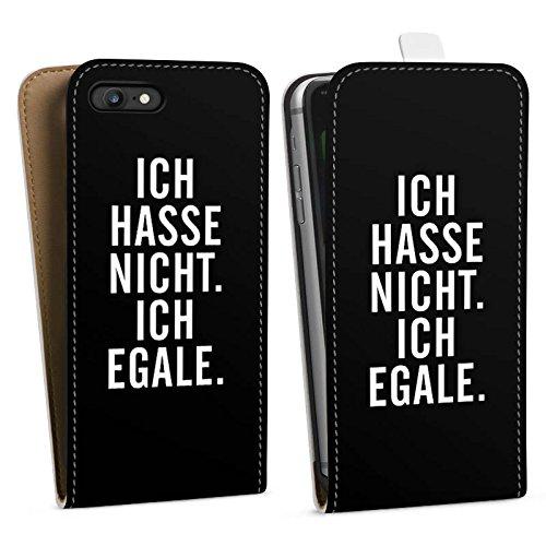 Apple iPhone X Silikon Hülle Case Schutzhülle Humor Egal Sprüche Downflip Tasche weiß