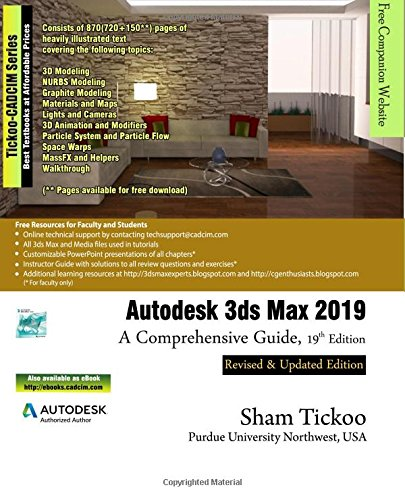 Autodesk 3ds Max 2019: A Comprehensive Guide, 19th Edition Max Digital Video
