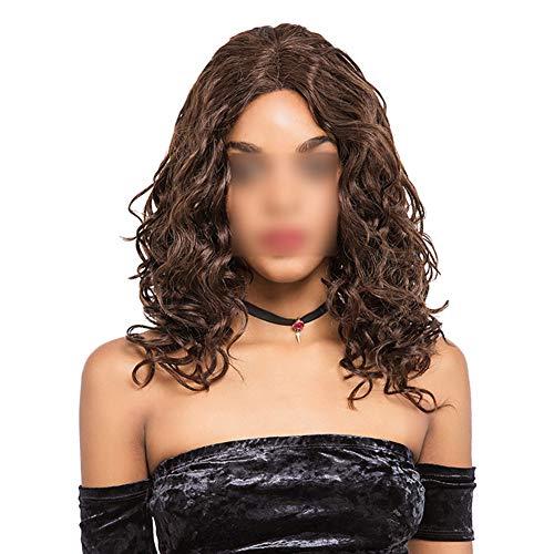QFXFLJF Lace Front Perücke, Natürliche Reale Person Haar Lange Lockige Welle 13Y - Vorteile Karte Kostüm