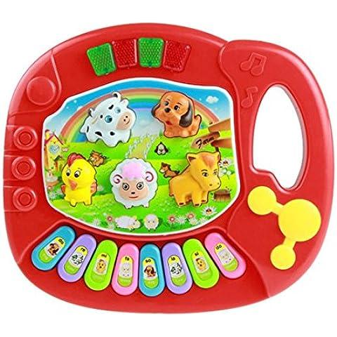 Fortan Il bambino scherza educativo musicale La fattoria degli animali Piano Developmental Musica giocattolo RD