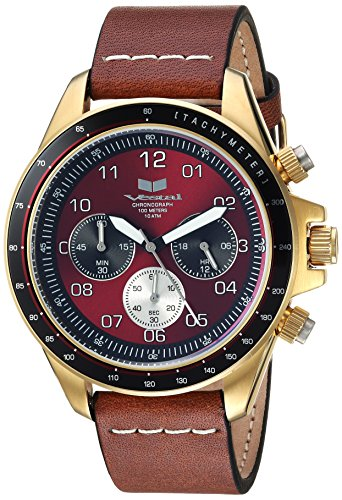 Vestal 'ZR2' Quartz Stainless Steel and Leather Casual Watch, Color:Brown (Model: ZR243L21.LBWH)