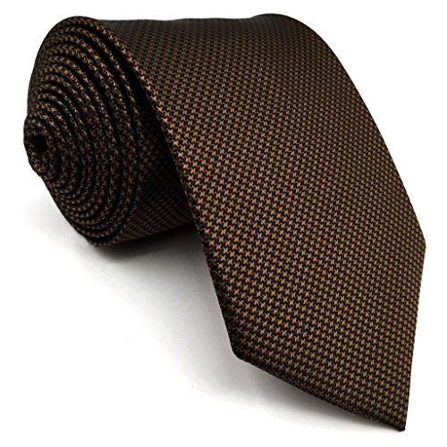 shlax&wing Herren Krawatte Solid Braun Seide Geschäftsanzug
