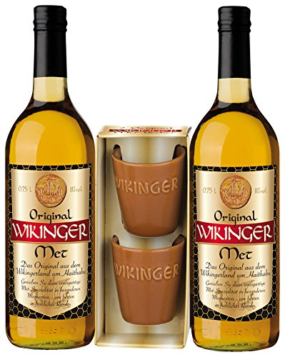 Original Wikinger Met Geschenkpackung (2 x 0,75 l), inkl. 2 Trinkbecher