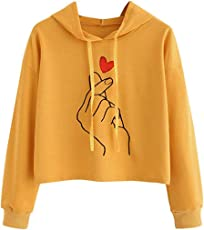 Outtop(TM) Women's Long Sleeve Casual Hooded Sweatshirt Pullover Top Blouse