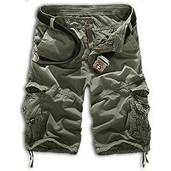 Cargo Shorts Hombres Pantalones Cortos Bermudas Leisure, de estilo informal, militar, de trabajo, pantalones cargo, combate, camuflaje Highdas